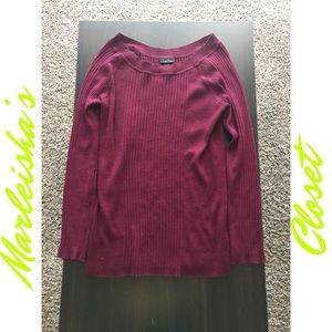 Burgundy Long Sleeve Sweater